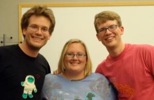 Karin with John and Hank Green