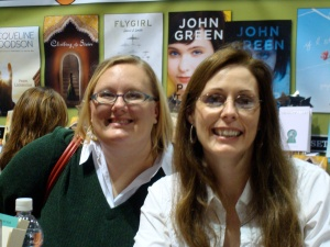 Karin with Laurie Halse Anderson